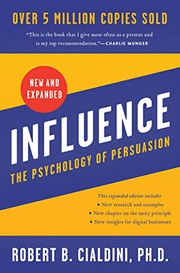 Cover of the Influence - The Psychology of Persuasion book